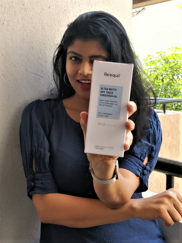 Re'equil Ultra Matte Dry Touch Sunscreen Gel-Does not make the skin oily on application.-By nitikas06