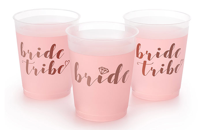 xo, Fetti Bride Tribe and Bridal Shower Cups