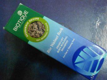 Biotique Bio Walnut Bark Volumizing Shampoo For Fine & Thinning Hair pic 2-The bark shampoo-By jasdeep99