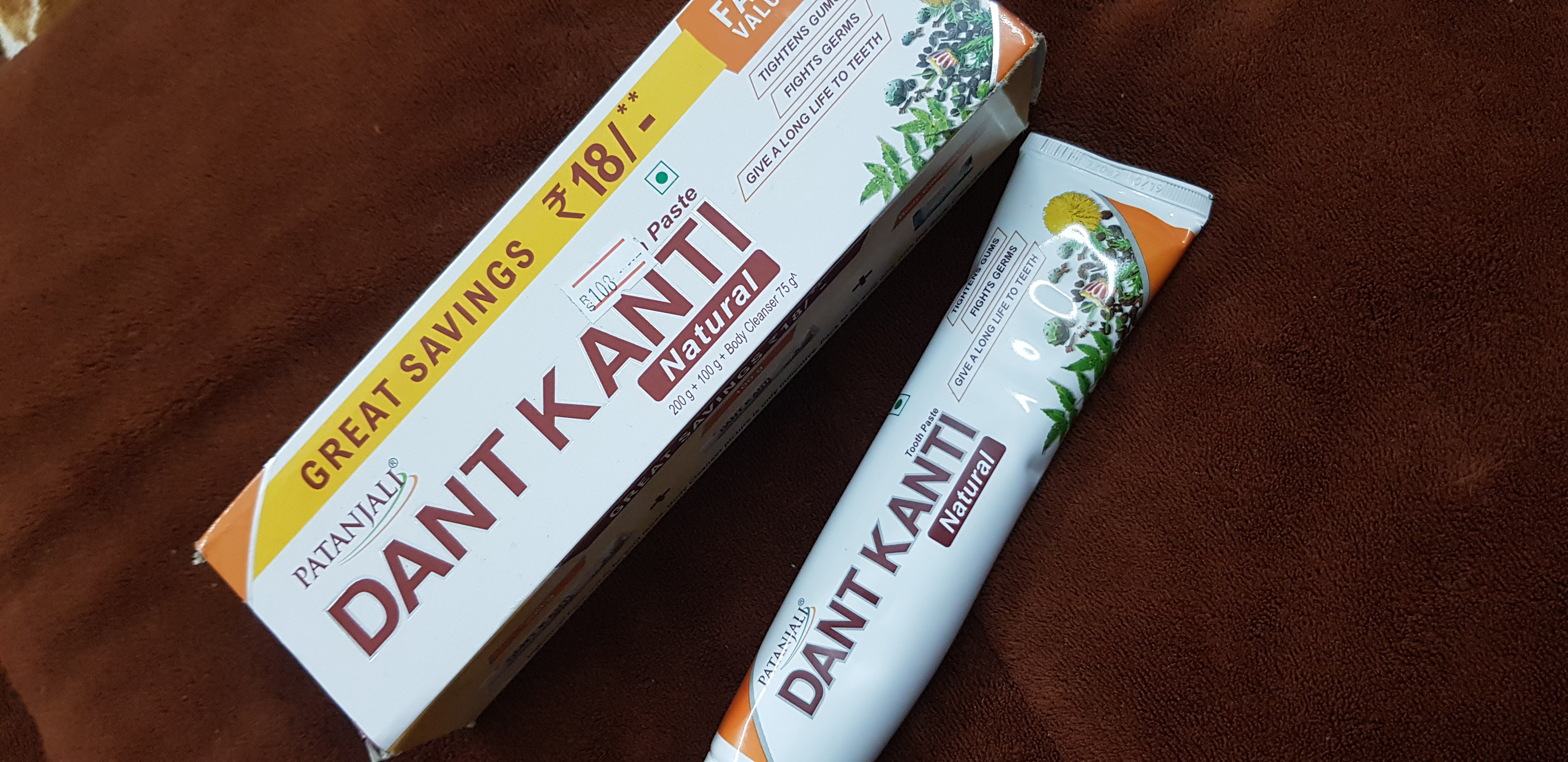 Patanjali Dant Kanti Dental Cream (Regular) 100gm -Prevention is better than cure-By poonam_kakkar