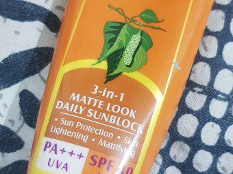 Lotus Herbals Safe Sun 3 in 1 Matte-Look Daily SunBlock PA+++ SPF 40 -Goodbye Sun Tanning!-By poonam_kakkar