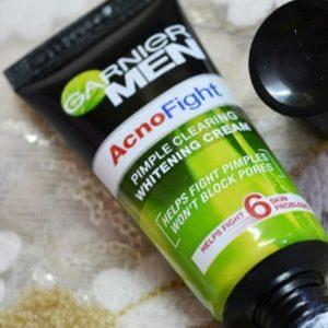 Garnier Men Acno Fight Pimple Clearing Whitening Cream -Garnier acno fight cream-By simranwalia29