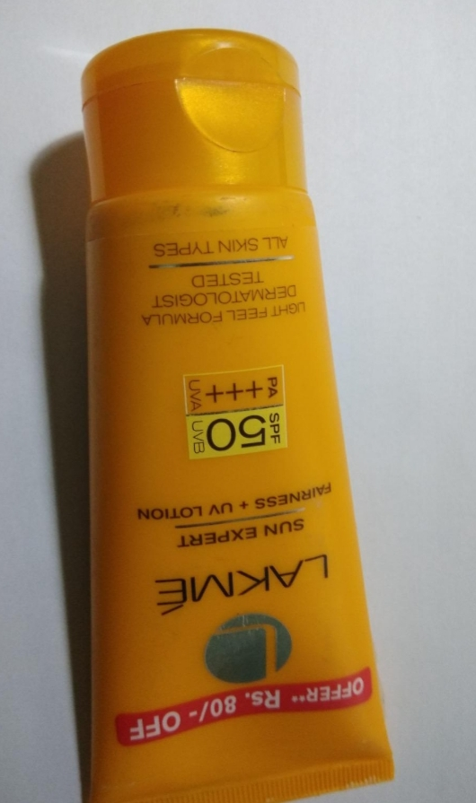 Lakme Sun Expert UV Lotion SPF 50 PA+++-Good for everyday use-By vanitylove