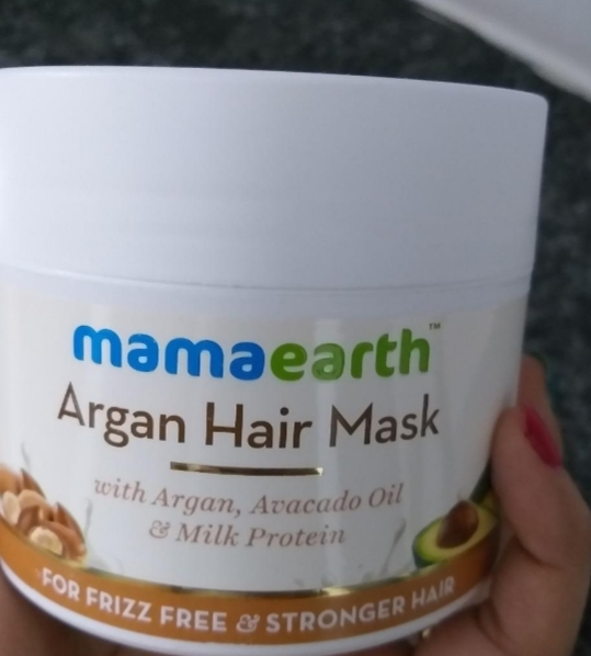 Mamaearth Argan Hair Mask-Frizz Free hair-By vanitylove