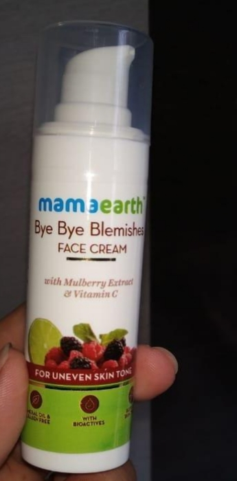 Mamaearth Bye Bye Blemishes Face Cream-Shows visible results on regular use-By vanitylove