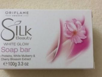Oriflame Silk Beauty White Glow Soap Bar -Smoother skin-By vanitylove