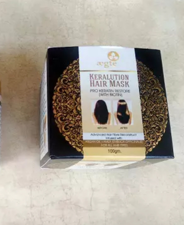 Aegte Keralution Hair Mask Infused with KERATIN & BIOTIN for all Hair types-100ml/3.4fl.oz-Keralution hair mask-By simranwalia29