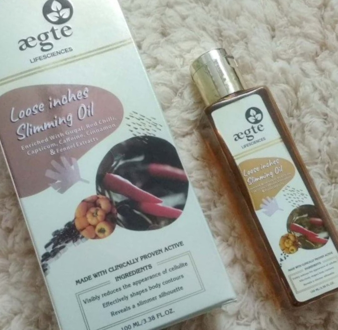 Aegte Loose Inches Anti Cellulite & Skin Toning Slimming Oil for Stomach, Hips & Thigh – 100ml-Skin toning and slimming oil-By simranwalia29