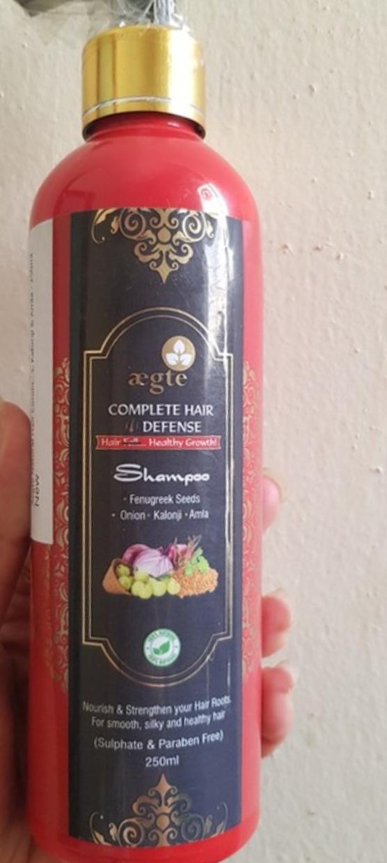 Aegte Complete Hair Defense Shampoo Enriched with Red Onion, Fenugreek Seeds, Kalonji & Amla-Hair defense shampoo-By simranwalia29