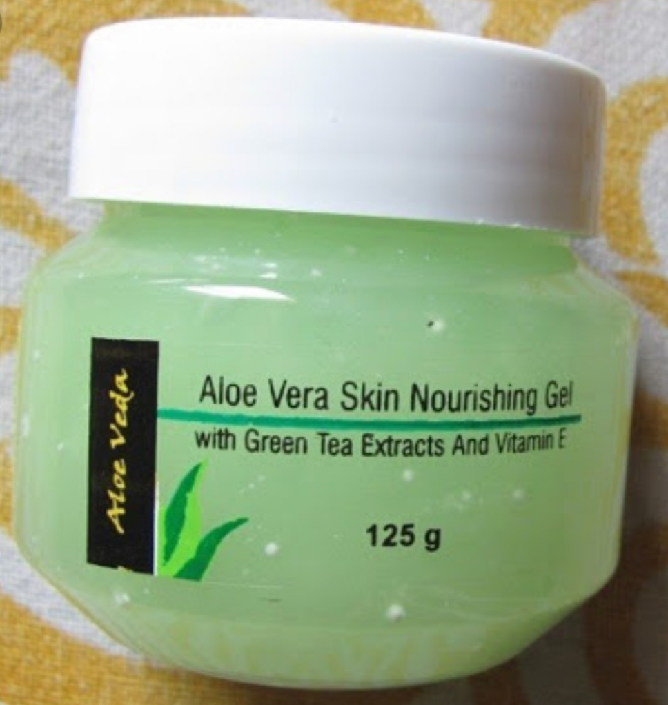 Aloe Veda Aloe Vera Nourishing Skin Gel With Green Tea Extracts & Vitamin E-Aloe vera gel-By simranwalia29