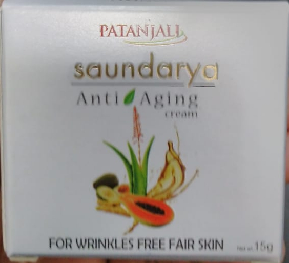 Patanjali Saundarya Anti Aging Cream-Reduces wrinkles-By vaishali_0111