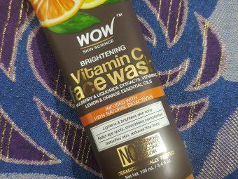 WOW Skin Science Brightening Vitamin C Face Wash -Vitamin C for skin!-By poonam_kakkar