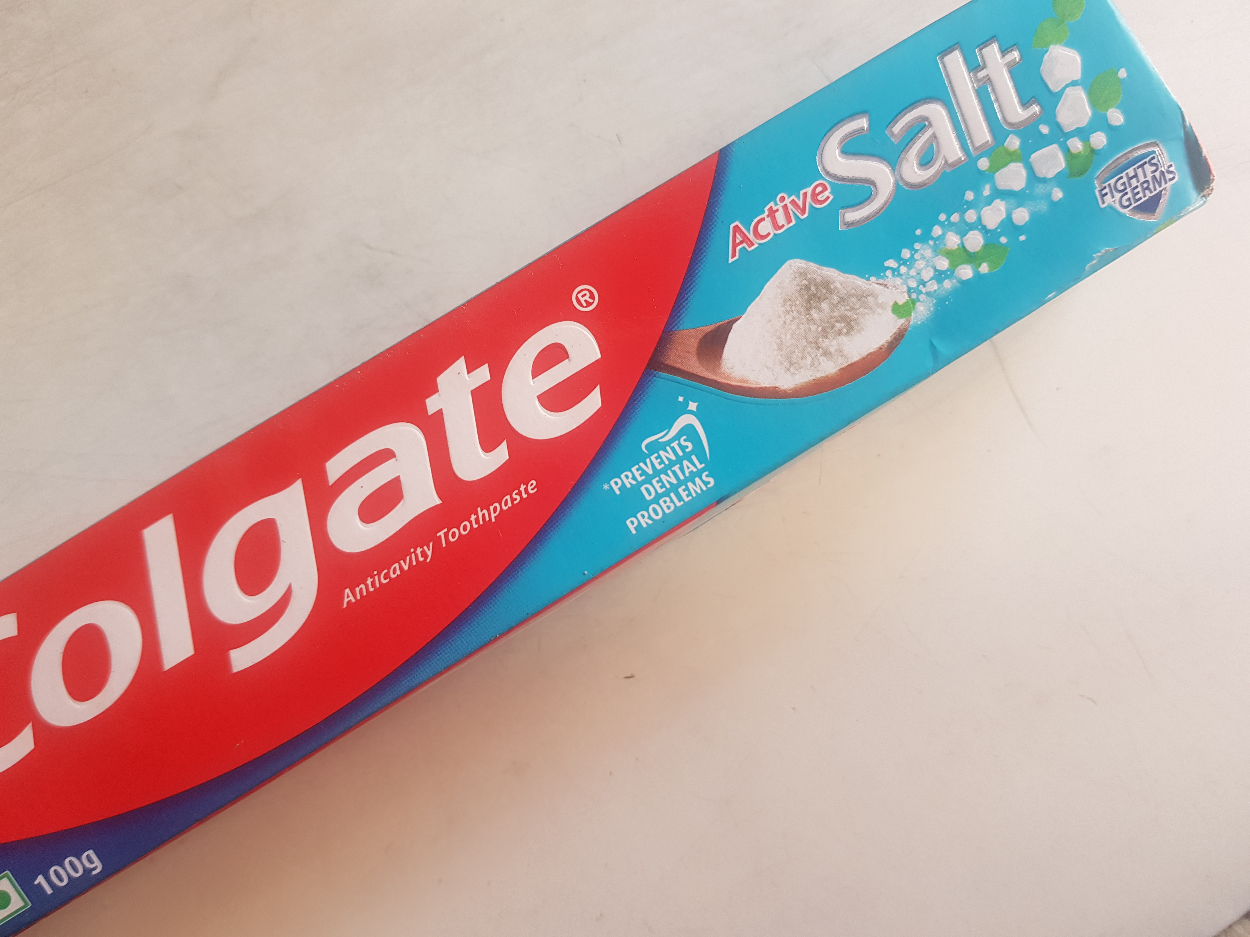 Colgate Active Salt Fight Germs Toothpaste-For whiter teeth!-By poonam_kakkar