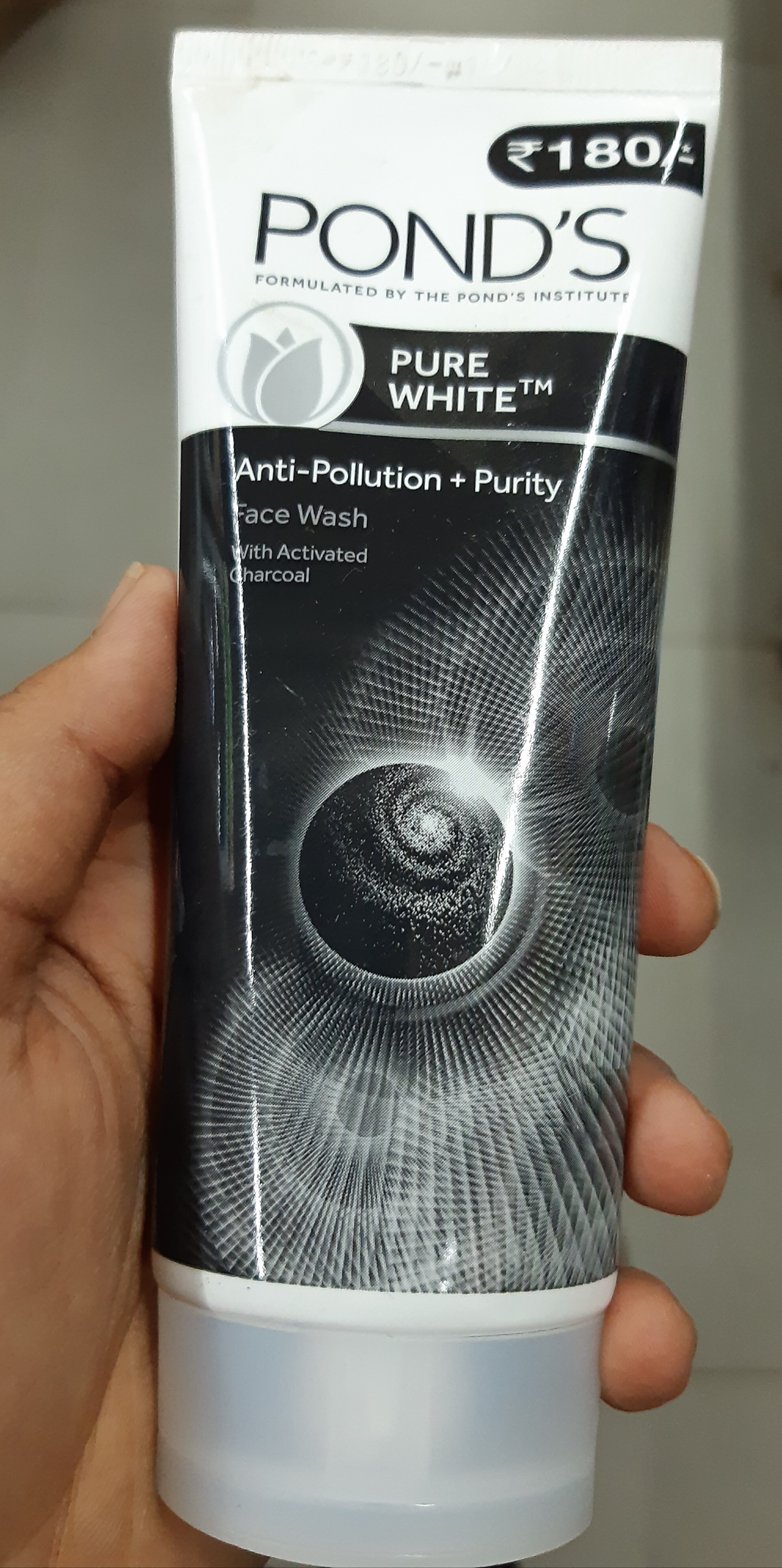Ponds Pure White Anti Pollution + Purity Face Wash -Ponds pure white anti pollution face wash-By rishikasahoo