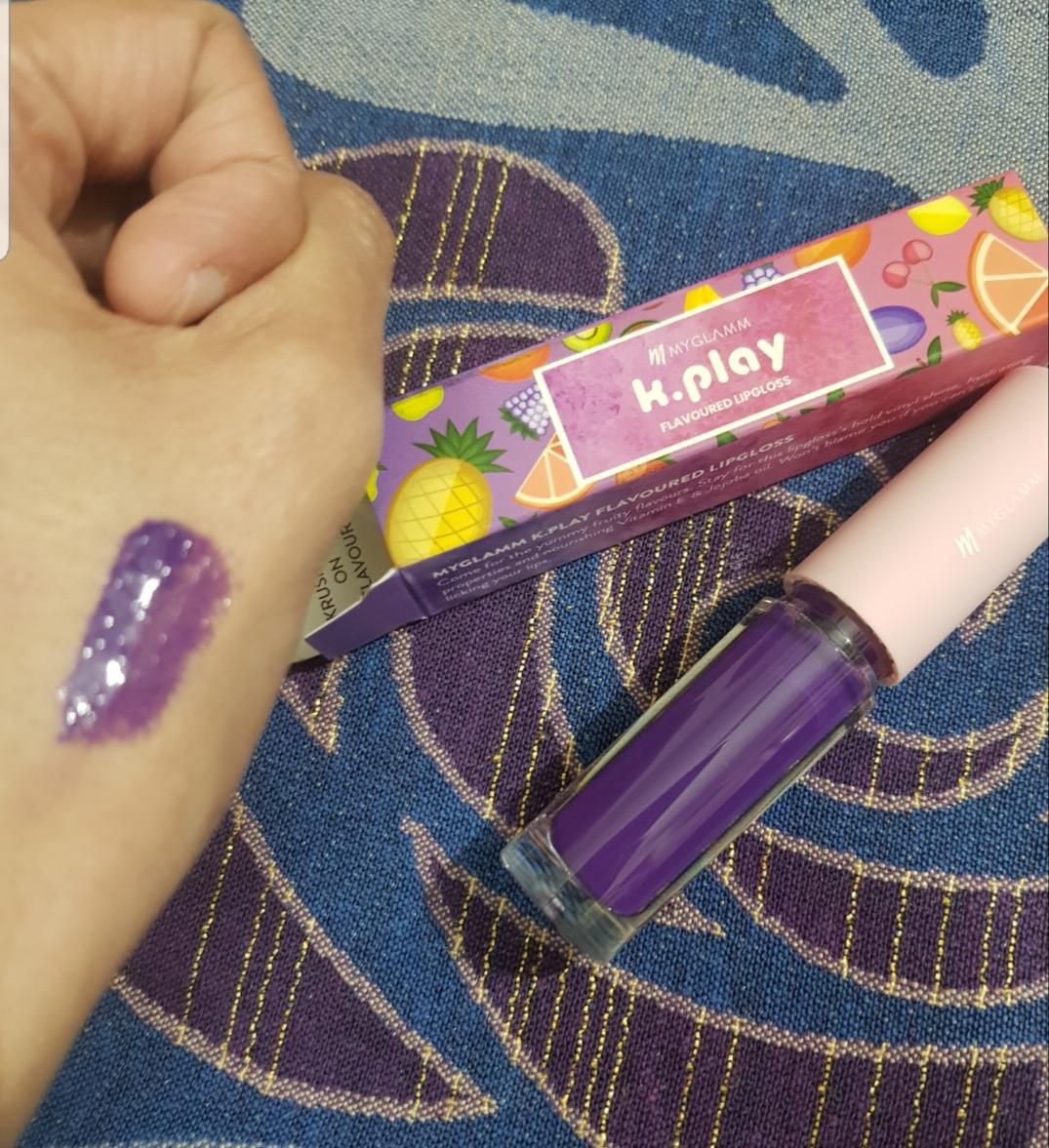 MyGlamm K.PLAY FLAVOURED LIPGLOSS – BLUEBERRY RUSH-Highly moistured gloss!-By poonam_kakkar