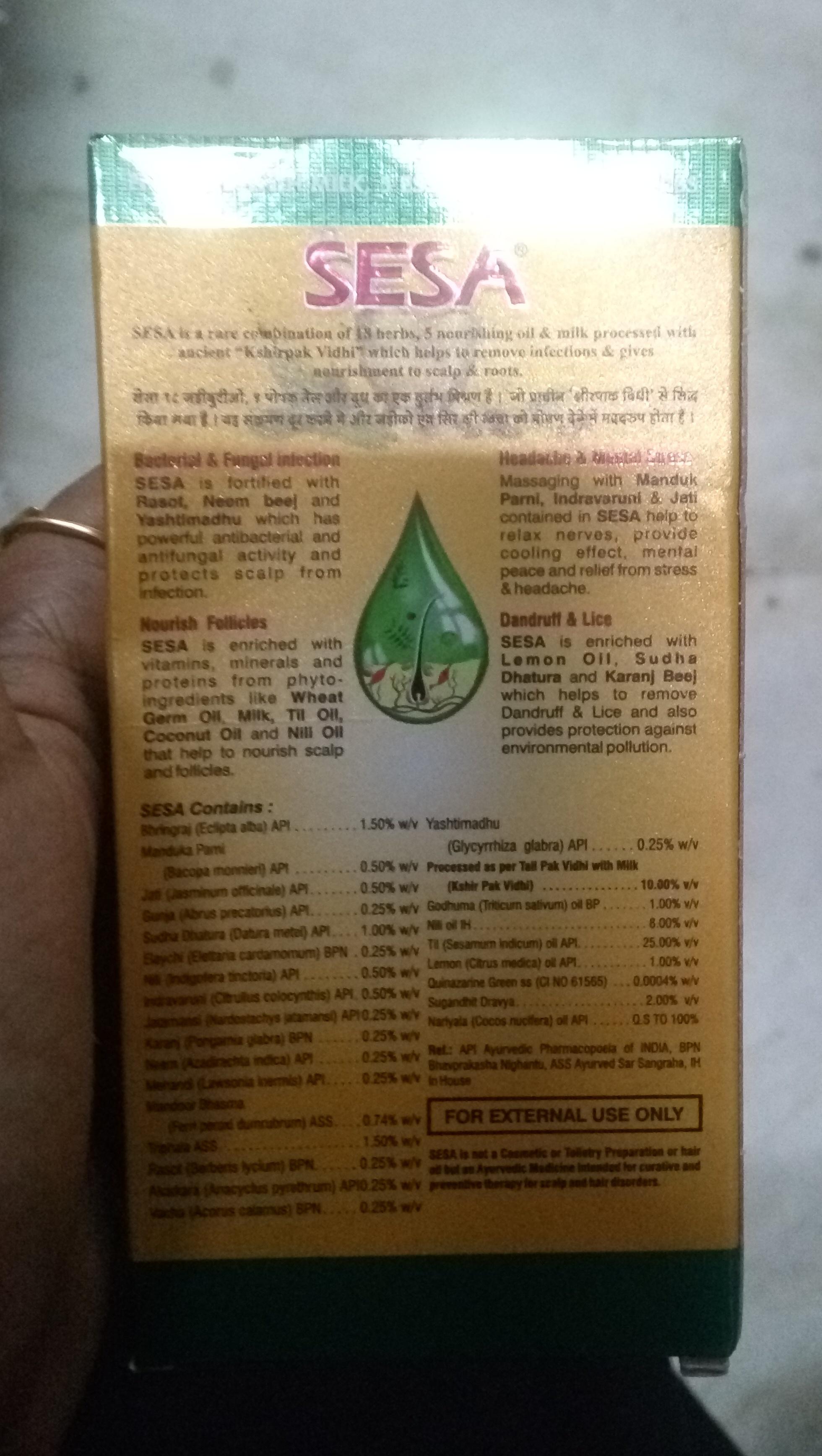 SESA Hair Oil-Okay product-By Nasreen-1