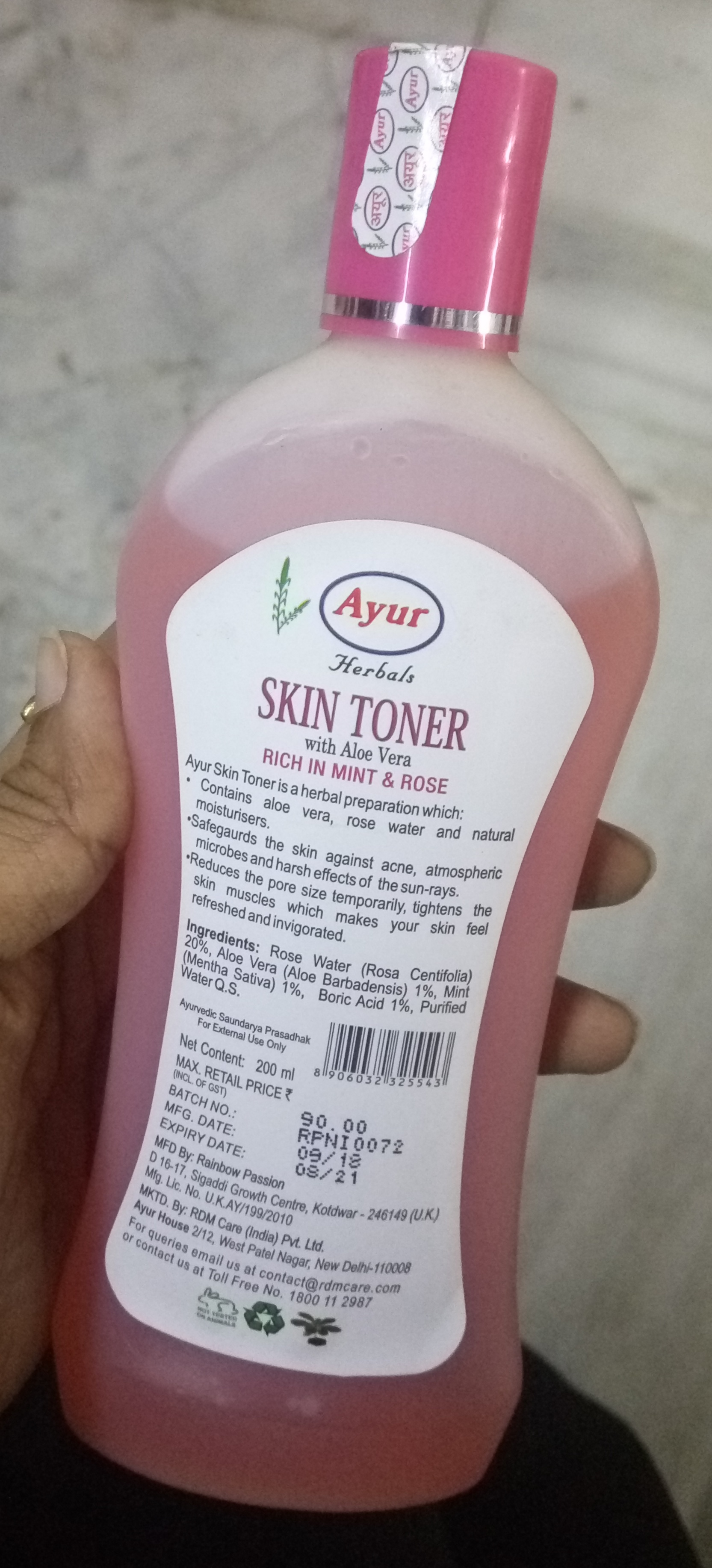 Ayur Herbals Skin Toner With Aloe Vera-Not satisfied-By Nasreen-1