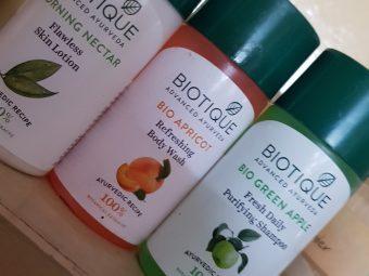 Biotique Bio Green Apple Fresh Daily Purifying Shampoo & Conditioner pic 1-Mild Hair Cleanser-By poonam_kakkar