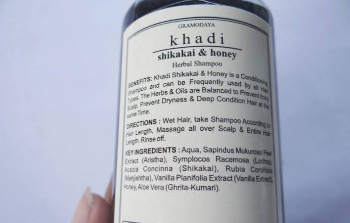 Khadi Natural Shikakai And Honey Hair Cleanser-Nice-By pogostylecase