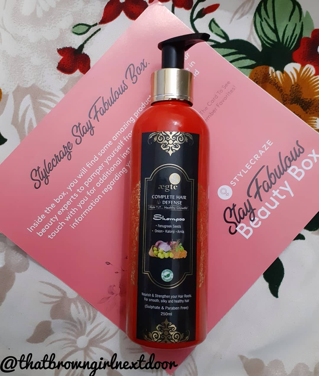 Aegte Complete Hair Defense Shampoo Enriched with Red Onion, Fenugreek Seeds, Kalonji & Amla-A really great shampoo for everyday use-By purwi