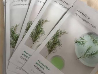 Innisfree My Real Squeeze Mask Tea Tree -Waterbased Sheet mask for Oily Acne Prone Skin-By roy_disha