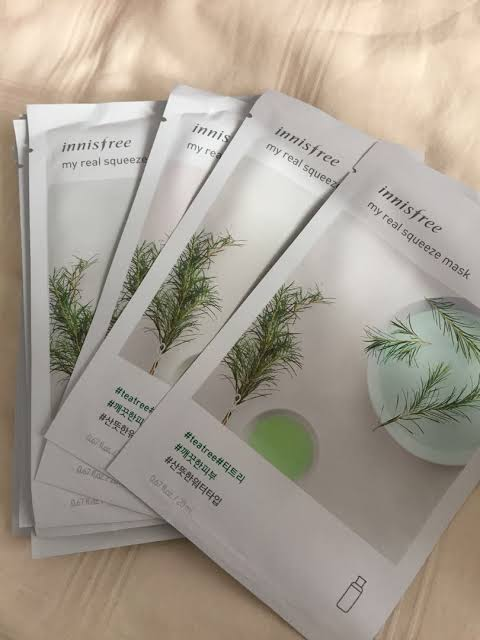 Innisfree My Real Squeeze Mask Tea Tree-Waterbased Sheet mask for Oily Acne Prone Skin-By roy_disha