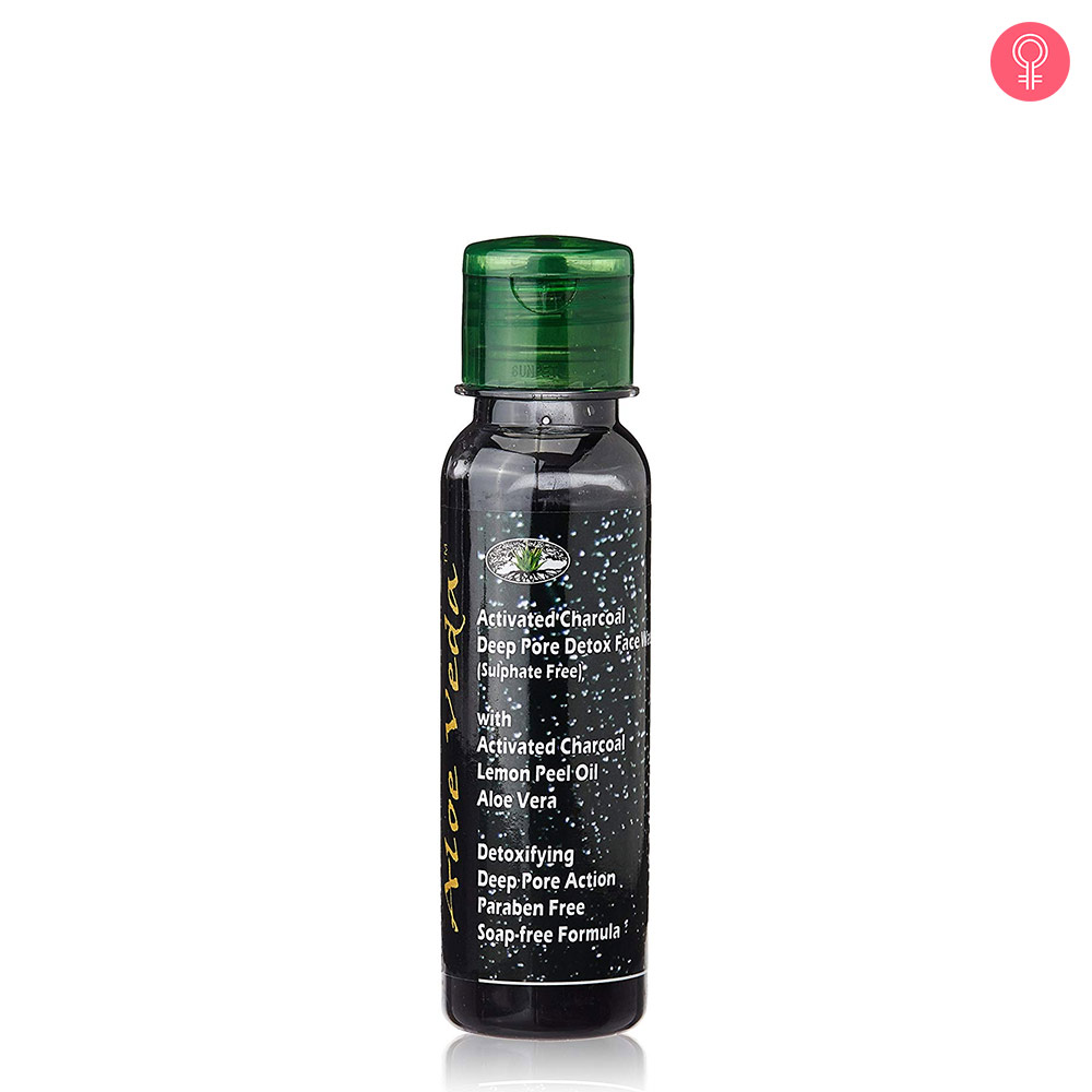 Aloe Veda Activated Charcoal Deep Pore Detox Face Wash