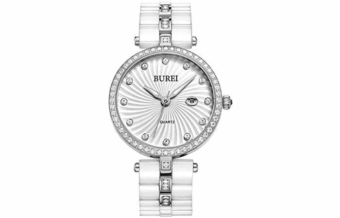 BUREI Women's Elegant Analog Quartz Wrist Watches