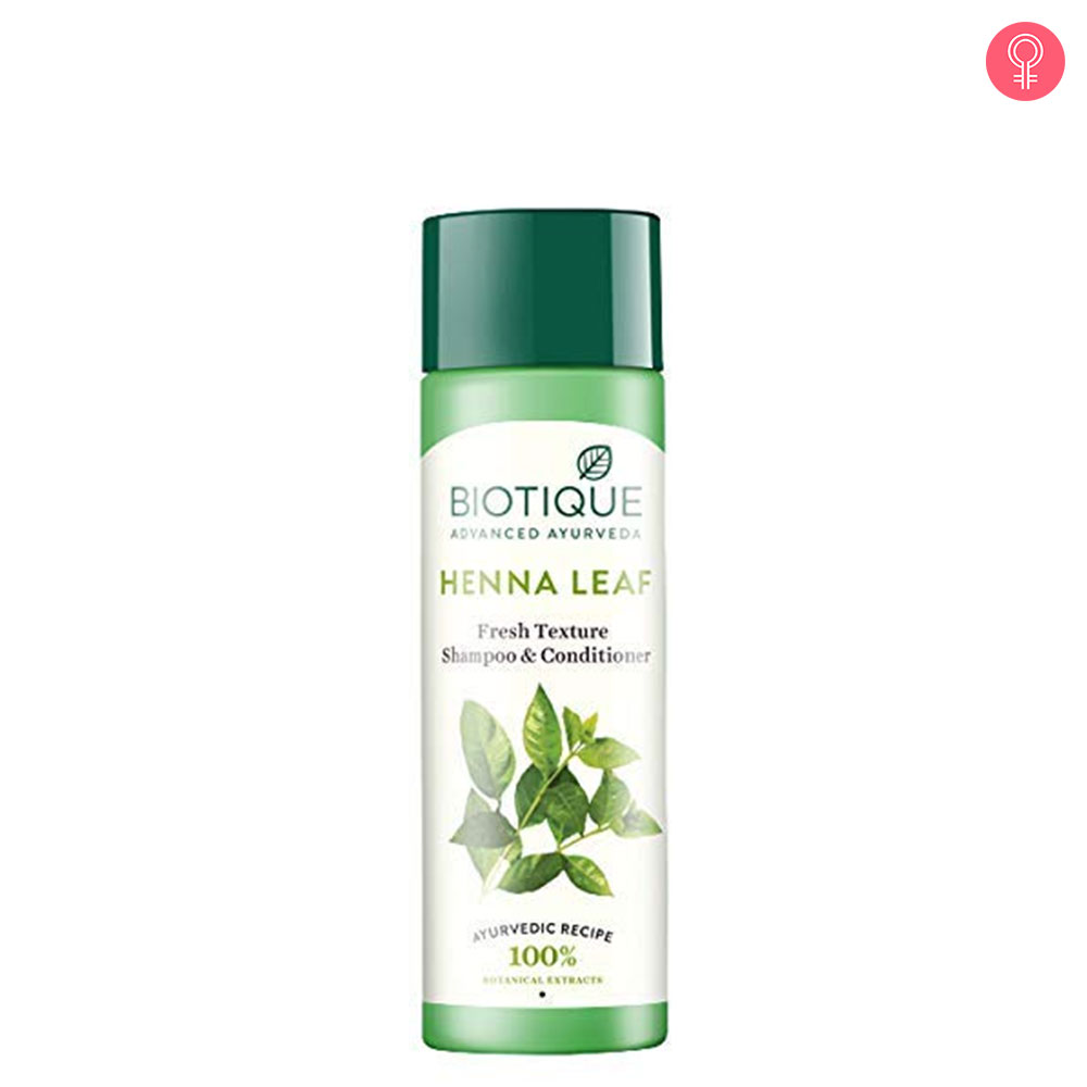 Biotique Bio Henna Leaf Fresh Texture Shampoo and Conditioner