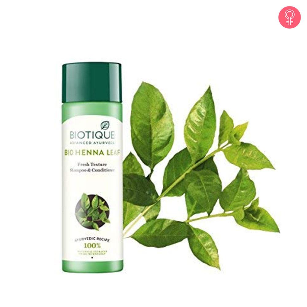 Biotique Bio Henna Leaf Fresh Texture Shampoo and Conditioner