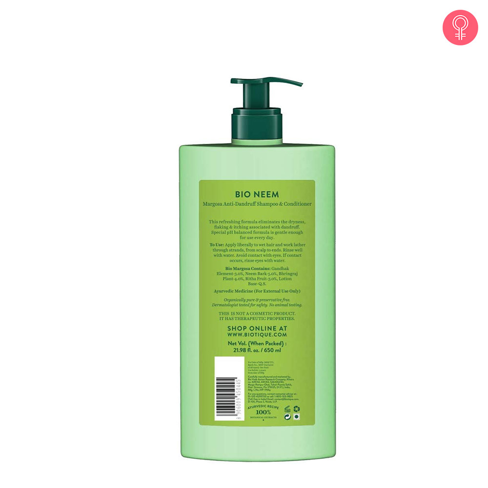 Biotique Bio Neem Margosa Anti-Dandruff Shampoo and Conditioner