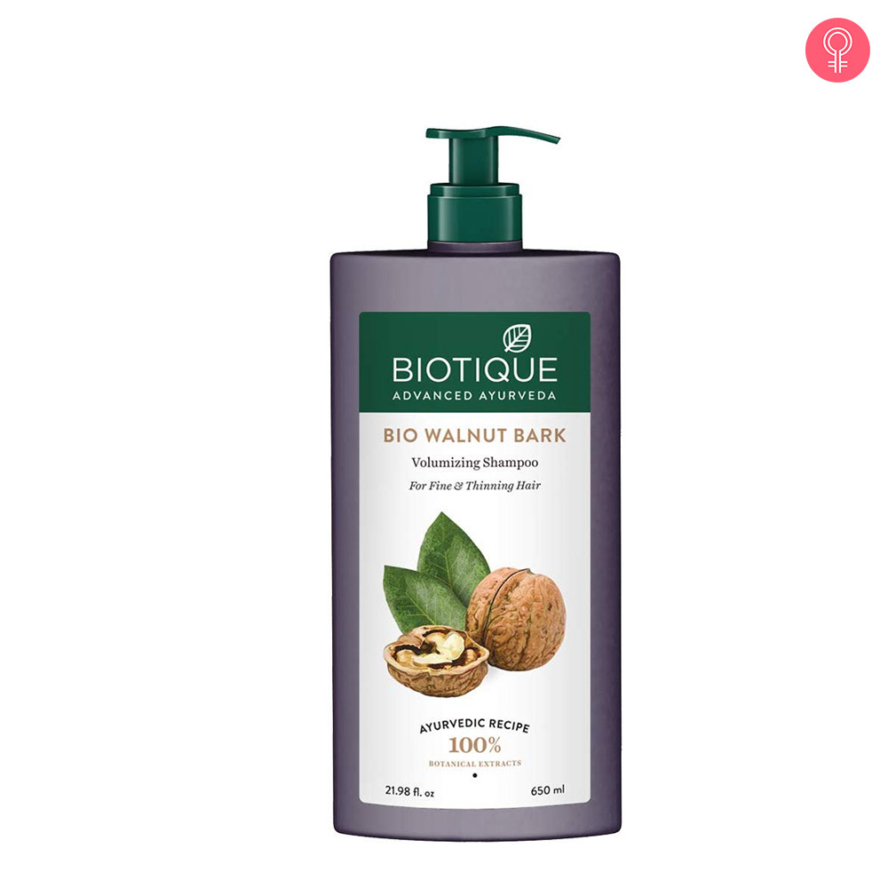 Biotique Bio Walnut Bark Volumizing Shampoo For Fine & Thinning Hair