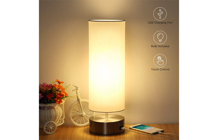 Boncoo Touch Control Bedside Nightstand Lamp