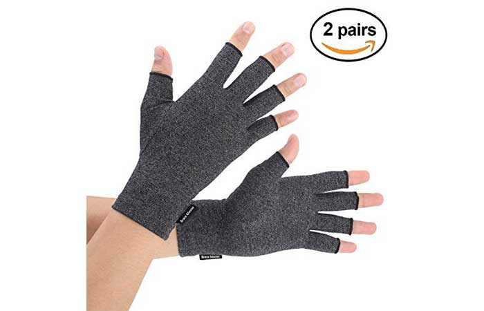 Brace Master 2 Pairs Compression Arthritis Gloves