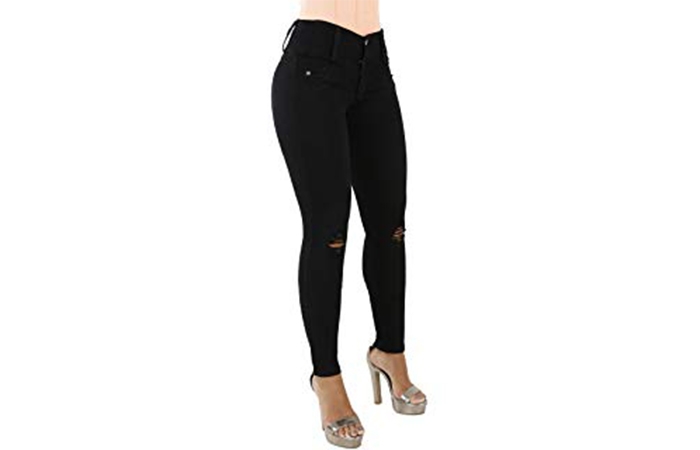 Butt-Lifting Jeans Capris