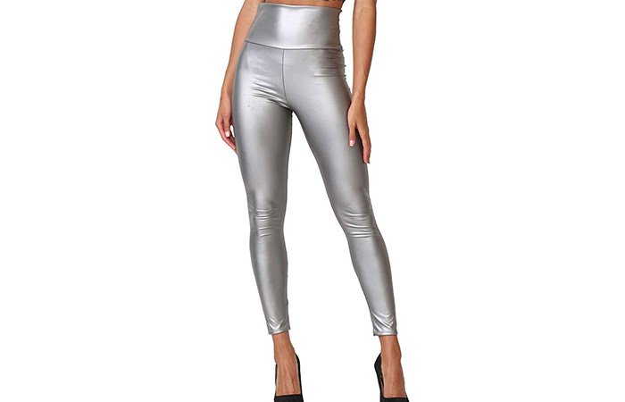 Cemi Ceri Women's Faux Leather High Waist Leggings