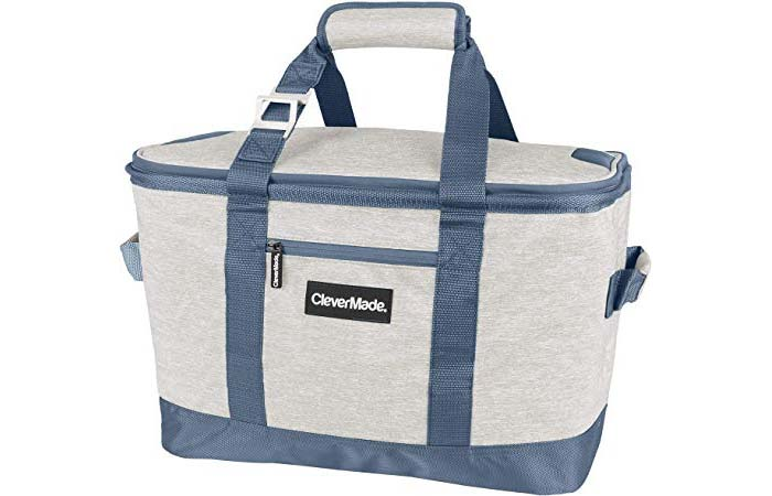 CleverMade Collapsible 50 Can Soft Sided Cooler Bag