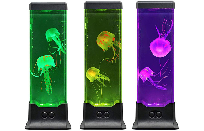 Electric Jellyfish Tank Table Lamp With Color Changing Light