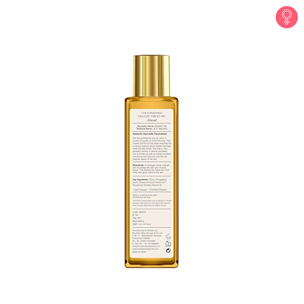 Forest Essentials Organic Cold Pressed Virgin Almond Oil