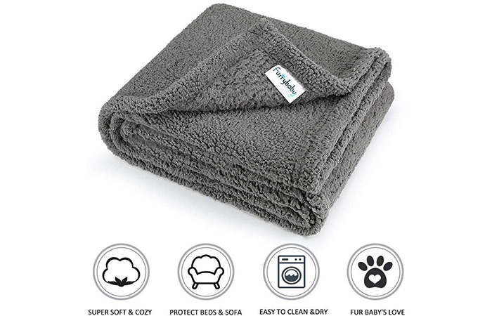 Furry baby Fluffy Fleece Dog Blanket