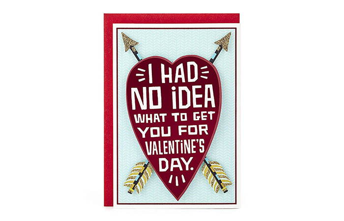 "Hallmark ""I Had No Idea What To Get You ForValentine's Day"" Card"