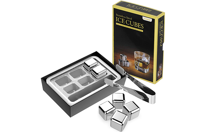 Kollea Stainless Steel Reusable Ice Cubes Chilling Stones