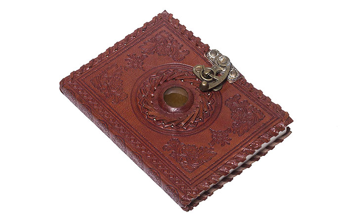 Leather Engraved Lock Diary