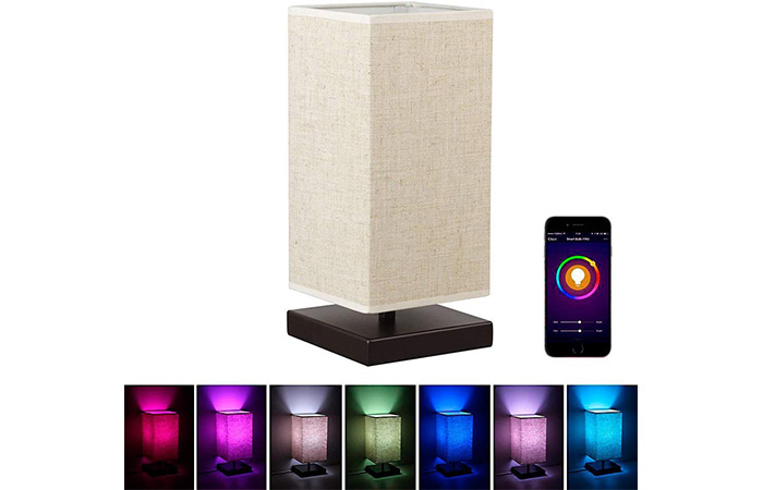 MLGB Alexa Wi-Fi Smart Wood Table Lamp