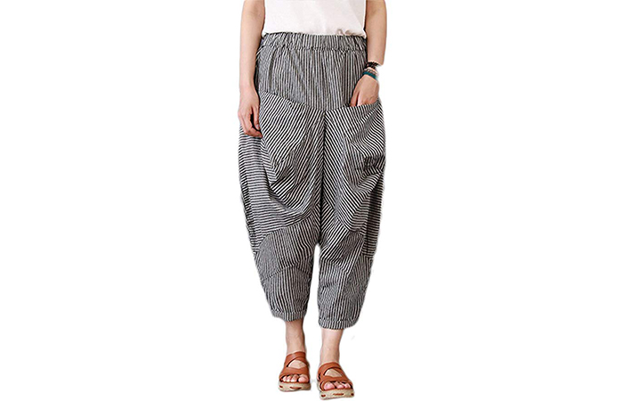 Mordenmiss Women's Casual Cotton Linen Pants