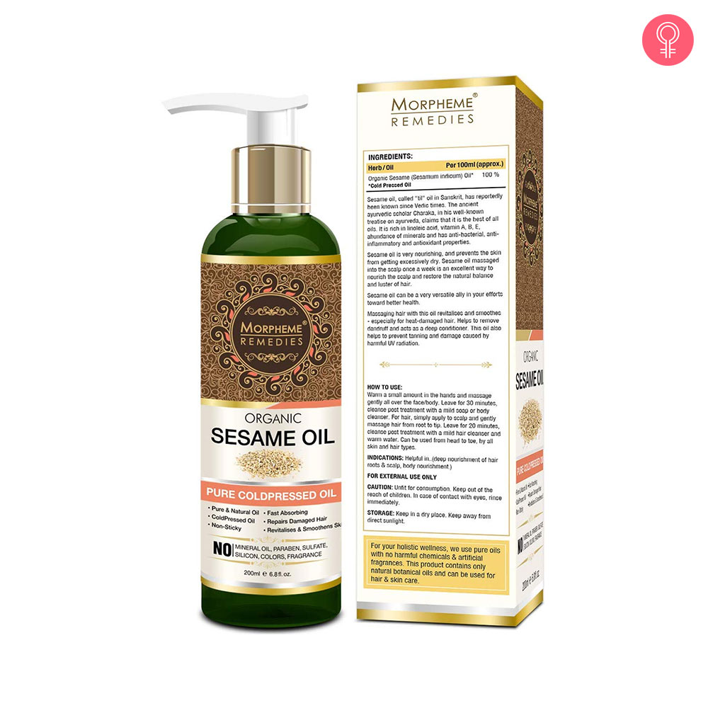Morpheme Remedies Organic Sesame Pure Cold Pressed Oil