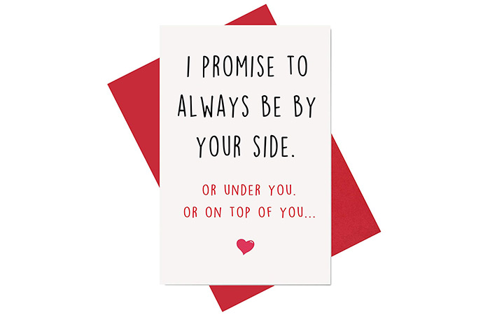 "Nimab ""I Promise To Always Be By Your Side"" card"
