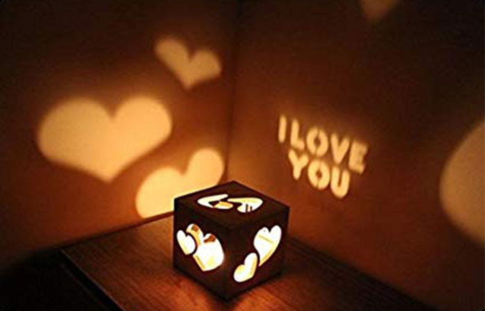 Personalized Candle Shadow Cube Can