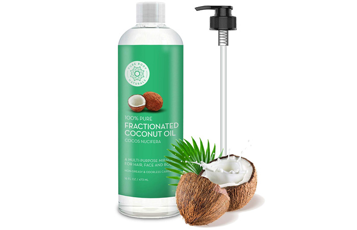 Pure Body Naturals 100% Pure Fractionated Coconut Oil