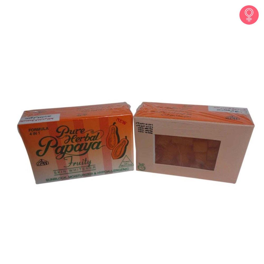 Pure Herbal Papaya 4 In 1 Skin Whitening Fruity Soap